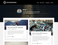 Matraman - Handsome Grid Blog Theme