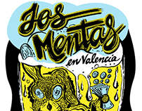 """Los Mentas"" rock band - Poster Design"