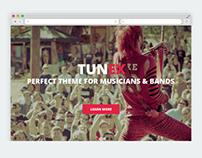 TUNEX – Music & Entertainment PSD Template