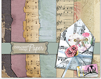 vintage notes and paper's for the digital scrapbooking