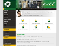 Web design for Election Commission of Pakistan