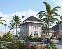 Providenciales House, 3D Exterior visualisation