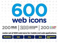 600 web icons