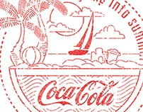 Coke Summer Linework Badge