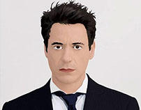 RDJ Vector Illustration