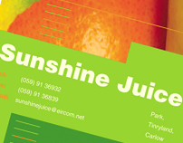 Sunshine Juice - Brochure