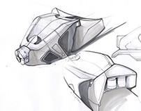 Free hand sketching of a Blizzard ski binding