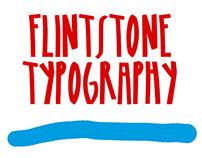 FLINTSTONE TYPOGRAPHY