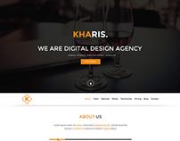 (Free PSD) Kharis - Onepage Web PSD