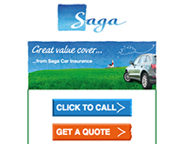 Saga Car Insurance Responsive Email Redesign