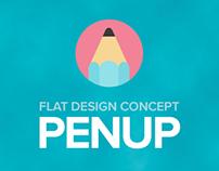 PENUP Samsung - Flat Design Concept