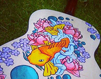 Geometric animals on behance for Koi fish guitar
