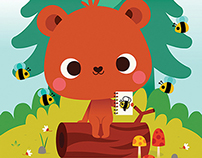 MiniLou | Woodland Adventures coloring book