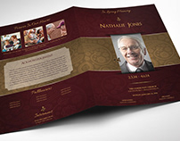 Royal Maroon Funeral Program Word