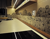 Handpainted wall tiles