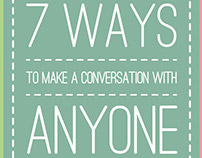 7 Ways to Make a Conversation with Anyone - Infographic