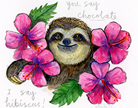 All my sloths live here: Illustration