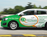 Quiet Village Landscaping Vehicle Wrap
