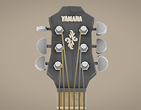 Illustrative Rendering - Lowpoly 3D guitar