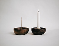 Incense + Candle Holders