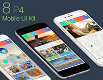 8 P4 Mobile UI Kit - Download PSD