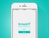 Kriteek - App Design