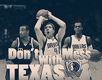Don't Mess With Texas Mavs Poster