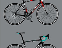 Cs and Ds Bianchi Road Bikes