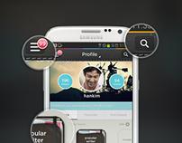 PENUP Samsung - Skeuomrphism Concept