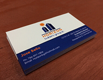 Some of our business cards. Printed + Design