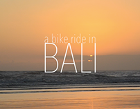 a bike ride in Bali