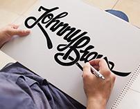 Johnny Bravo hand lettering