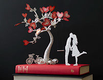 """The Tree of Love"" Book Art"