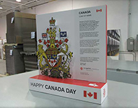 Canadian Coat of Arms Display
