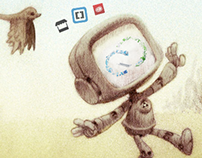 Twitter Profile Header (Robot & Nature)