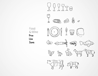 Free Food&Wine Line Icon Set