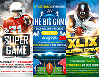 American Football Game Flyer Bundle, PSD Template