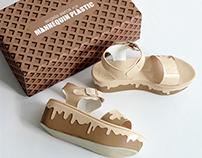Melted Ice Cream Platform Sandal