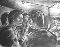 Inside the Soju Tent  - Drawing