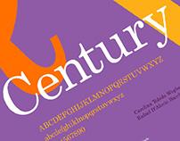 Century | Cartaz Tipográfico