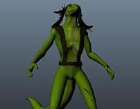 3D Character Modeling Coursework - Maya & Sculptris