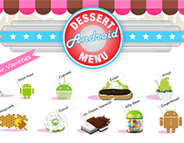 Android Dessert Menu - HTML 5 Infographic