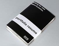 Portfolio resume / a pamphlet a year