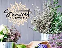 Sunset Flowers Branding