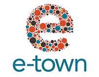 e-town logo design