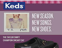 Keds TS SneakyCat Collection LED Ad