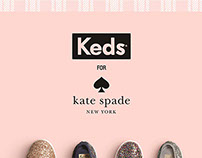 Keds Kate Spade collection LED Ad