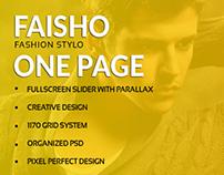 Faisho One Page Creative Psd Template