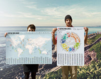 Surfing Worldwide - the ultimate map and infographic
