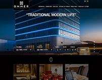 Ommer Hotel web design